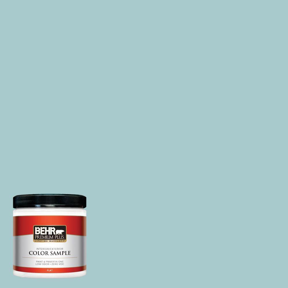 BEHR Premium Plus 8 oz. #PMD-95 Coastal Surf Interior/Exterior Paint Sample