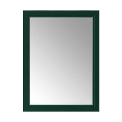 24.00 in. W x 32.00 in. H Framed Rectangular  Bathroom Vanity Mirror in Emerald Green