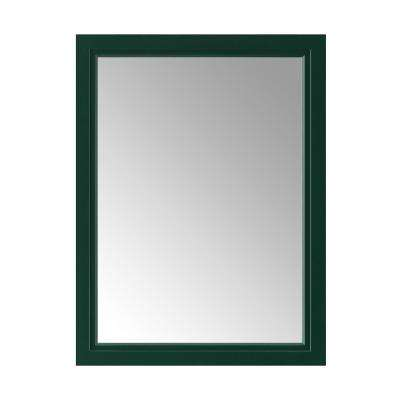 Sandon 24 in. x 32 in. Single Framed Wall Mirror in Emerald Green