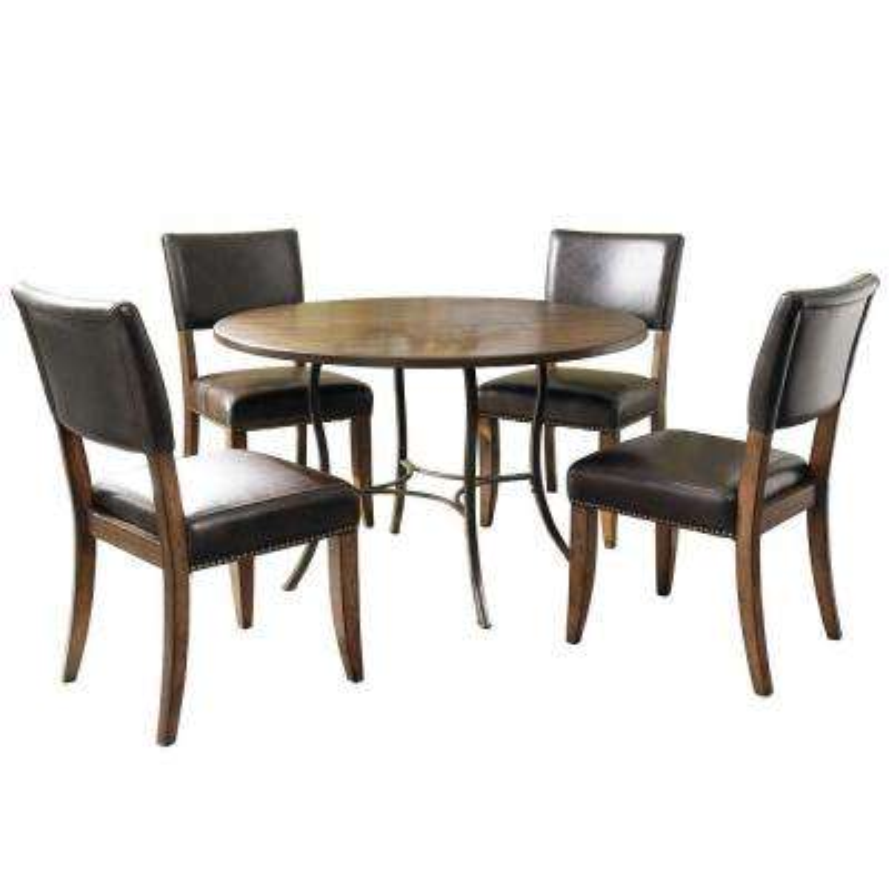 Cameron 5-Piece Dark Grey Dining Set