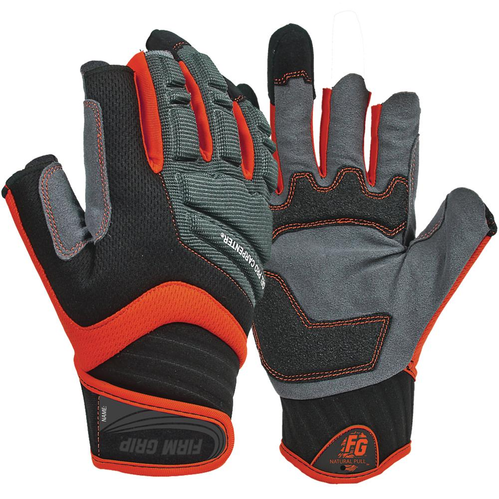 Firm Grip Large Gel Pro Carpenter Work Gloves