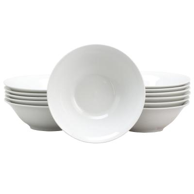 Noble Count 7 in. White Ceramic Bowl (Set of 12)