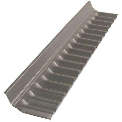 4 ft. Castle Grey Polycarbonate Roof Panel Wall Connector