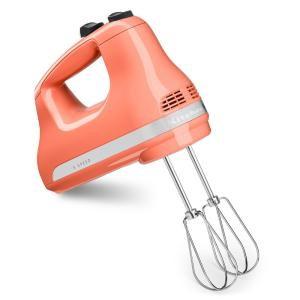 KitchenAid Ultra Power 5-Speed Pink Hand Mixer with 2 ...