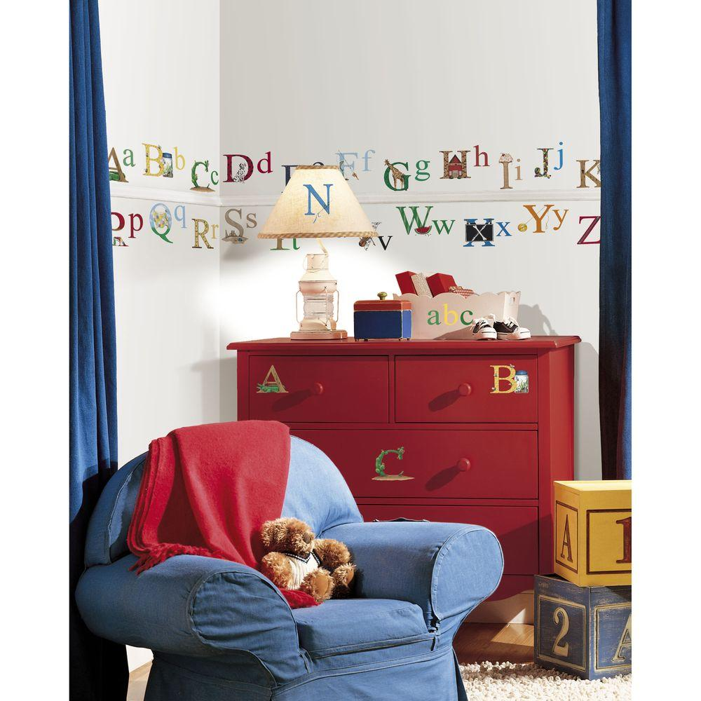 5 in. x 11.5 in. Alphabet Peel and Stick Wall Decal