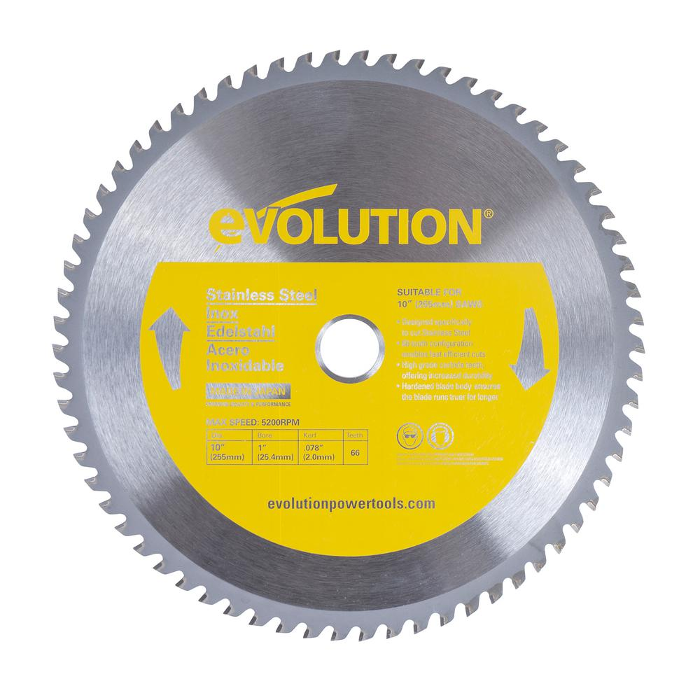 Evolution power tools 10 in 66 teeth stainless steel cutting saw 66 teeth stainless steel cutting saw blade greentooth Choice Image