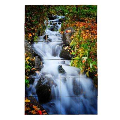 Waterfall1 24 in. x 36 in. Tumbled Marble Tiles (6 sq. ft. /case)