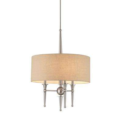 Allure 3-Light Brushed Nickel Pendant