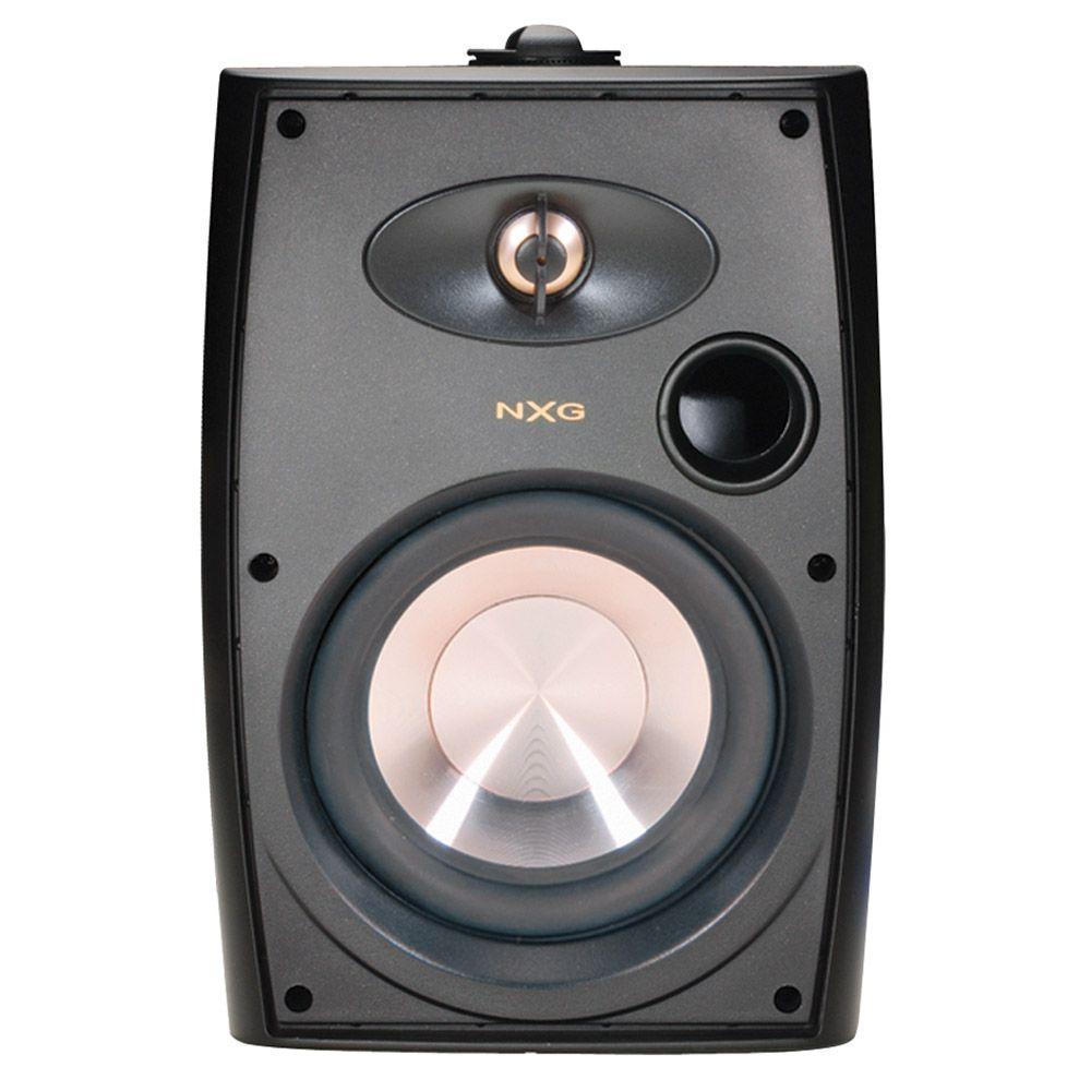 NXG 4 in. 75-Watt Black 2-Way Indoor/Outdoor Weatherproof Speaker System-DISCONTINUED