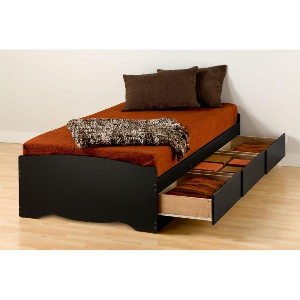 Prepac Sonoma Twin Xl Wood Storage Bed Bbx 4105 K The Home