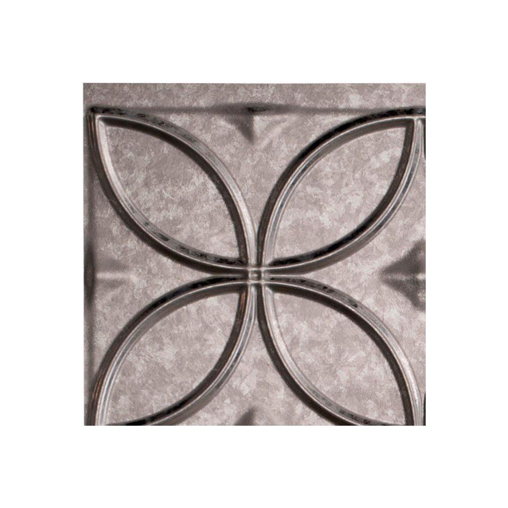 Fasade Rings 18 In X 24 In Galvanized Steel Vinyl Decorative Wall Tile Backsplash 15 Sq Ft Kit N61 30 The Home Depot