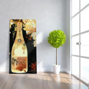 ''Let's Celebrate''Frameless Free Floating Tempered Art Glass by EAD Art Coop Wall Art