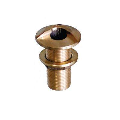 Bronze High Speed Standard Length Thru-Hull with Nut 2 in.