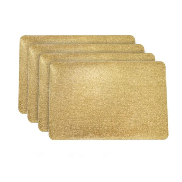 Dainty Home Galaxy Gold Rectangular Shaped Placemat (Set of 4) 4GAL1218GO