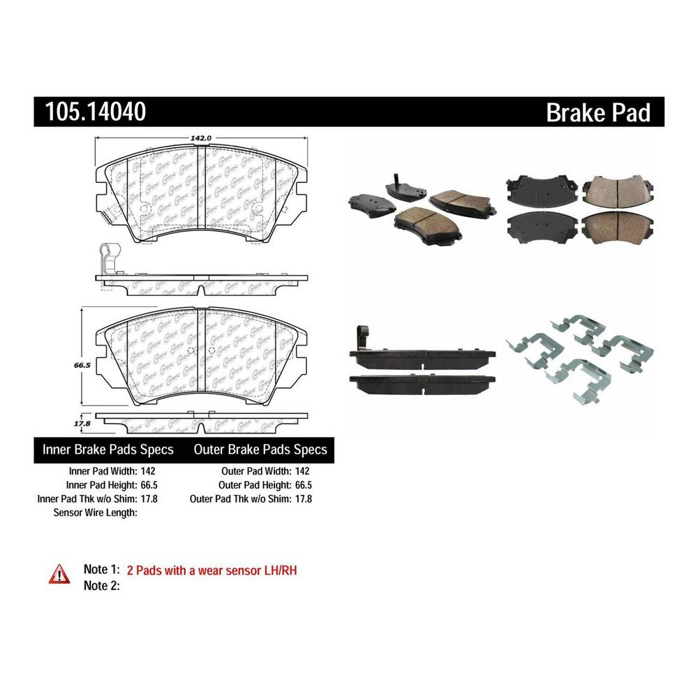 Centric Parts Disc Brake Pad Set 105 14040 The Home Depot
