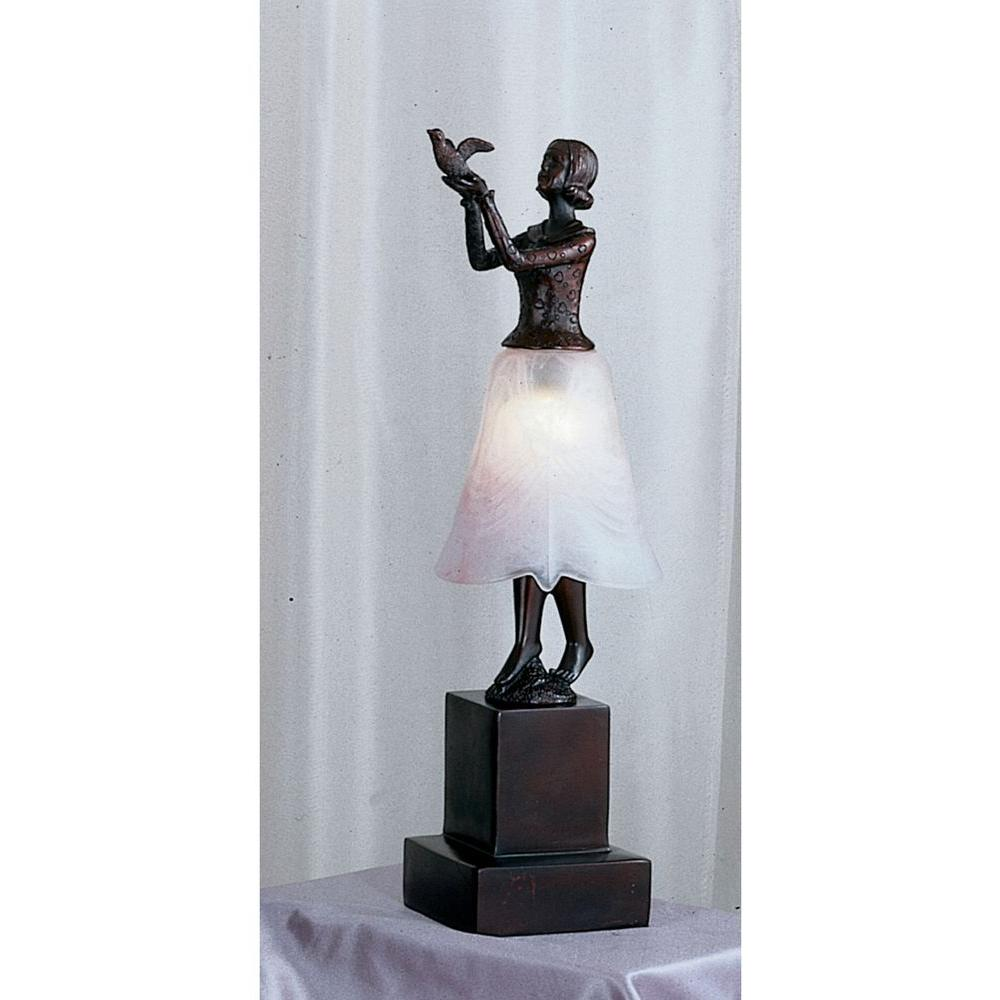 Illumine 1 Light Silhoutte Lady with Dove Accent Lamp