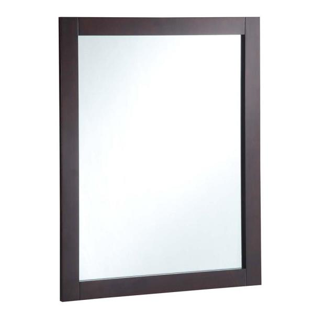 Shorewood 26 in. W x 36 in. H Framed Rectangular Bathroom Vanity Mirror in Espresso