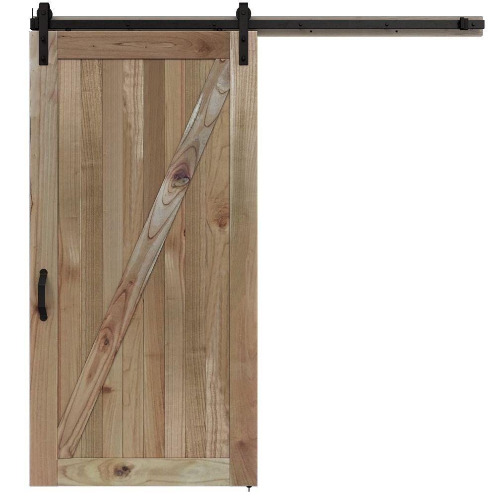 Jeld Wen 42 In X 84 In Rustic Unfinished Wood Barn Door