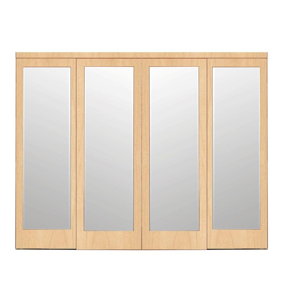 Impact plus 120 in x 96 in mir mel stain grade maple for Sliding glass doors 108 x 80