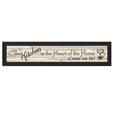 """""""Kitchen Is The Heart of The Home"""" by Millwork Engineering Framed Wall Art"""