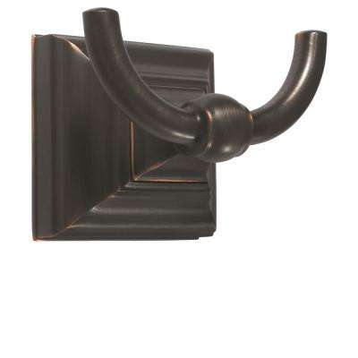 Markham Wall Mount Double Robe Hook in Oil Rubbed Bronze