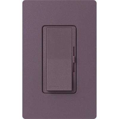 Diva Magnetic Low Voltage Dimmer, 450-Watt, Single-Pole or 3-Way, Plum