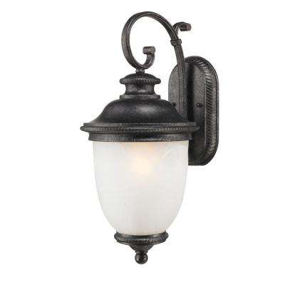 Belmont Outdoor Collection Dark Slate 1-Light Wall Mount Lantern (2-Pack)