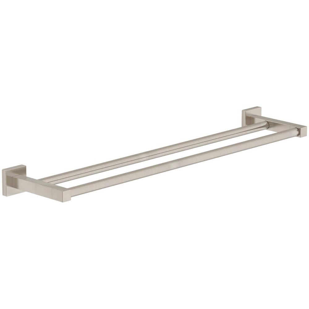18 in. Double Towel Bar in Satin Nickel