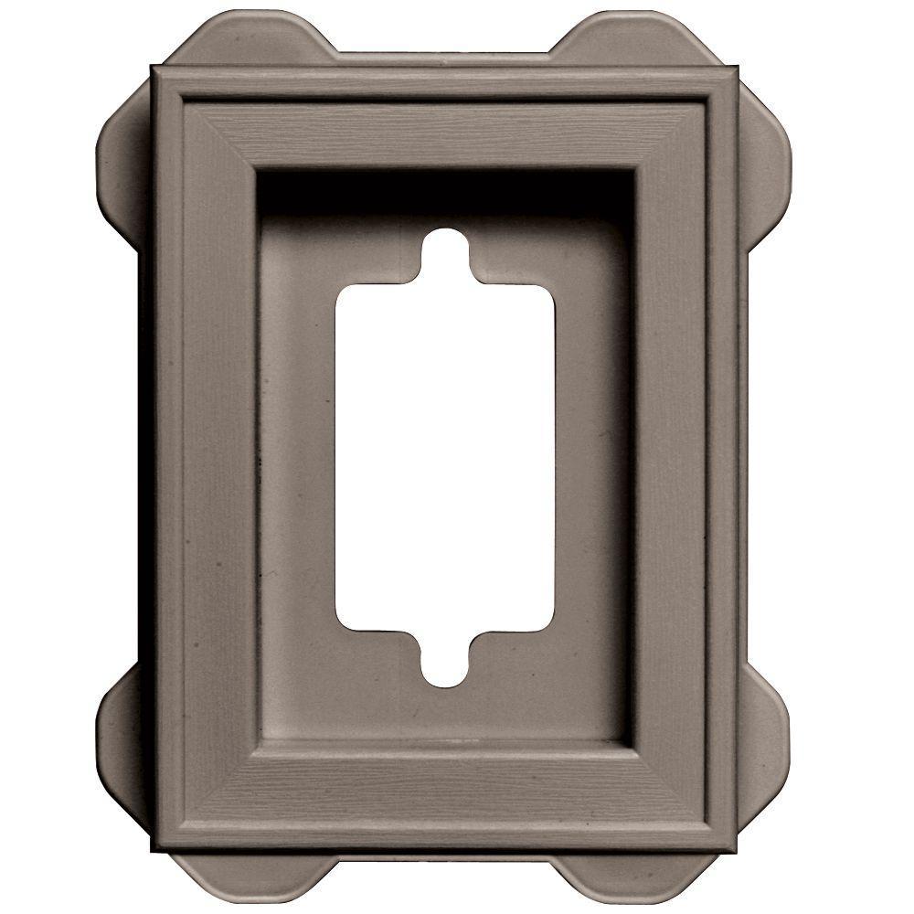 7.75 in. x 7.75 in. #008 Clay Recessed Mini Mounting Block