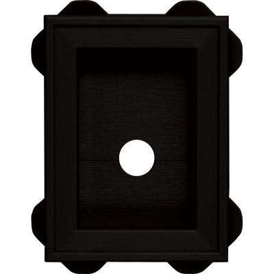 5.0625 in. x 6.75 in. # 002 Black Wrap Around Universal Mounting Block
