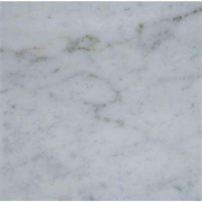 Carrara White 18 In. X 18 In. Polished Marble Floor And Wall Tile (
