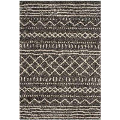 Arizona Shag Brown/Ivory 4 ft. x 6 ft. Area Rug
