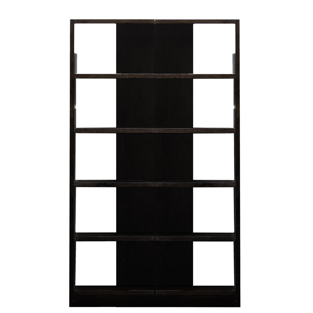 Espresso Finish 10-Shelves 2-Units Reversible Tower