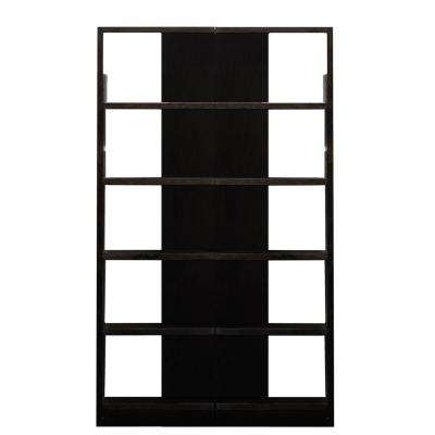 Espresso Finish 10-Shelves 2-Units Reversible Tower