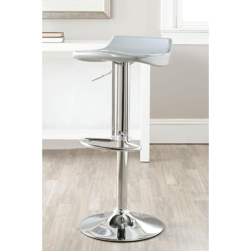 Safavieh Avish Adjustable Height Chrome Bar Stool