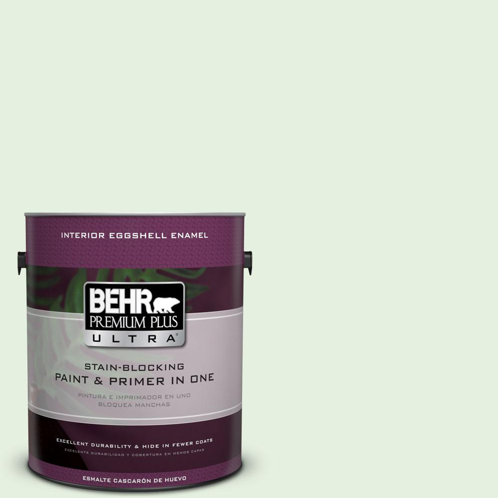 BEHR Premium Plus Ultra 1-gal. #M390-1 Mayfair White Eggshell Enamel Interior Paint