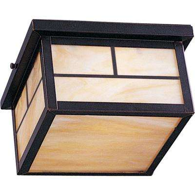 Coldwater 2-Light Burnished Outdoor Flushmount
