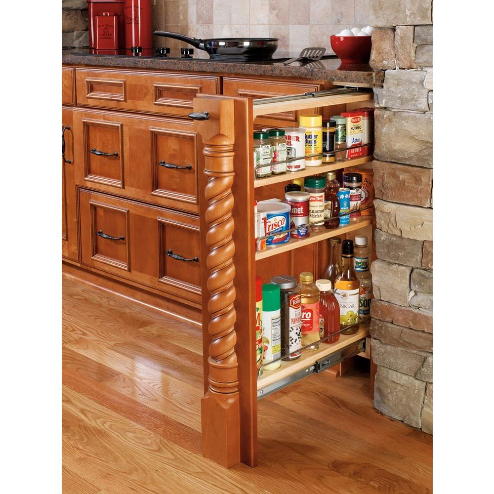 Rev a shelf 30 in h x 6 in w x 23 in d pull out between for Kitchen cabinet organizers