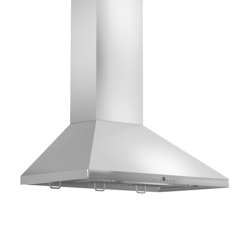 Zline Kitchen And Bath 36 In. 900 Cfm Convertible Wall Mount Range Hood In Stainless Steel, Brushed 430 Stainless Steel