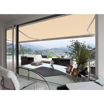 14 ft. Slim S Series Light Weight Manual Retractable Patio Awning (10 ft. Projection) in Linen Beige