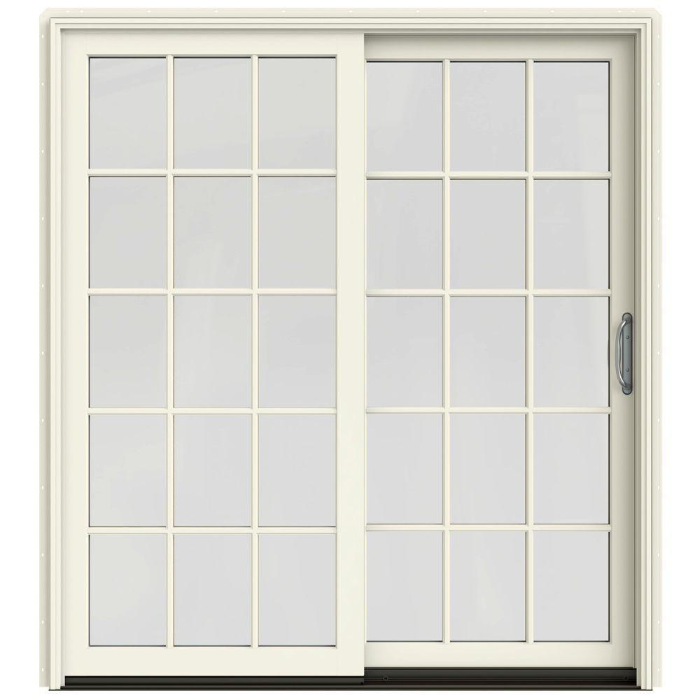 Patio Door Cladding : Jeld wen in w contemporary vanilla clad
