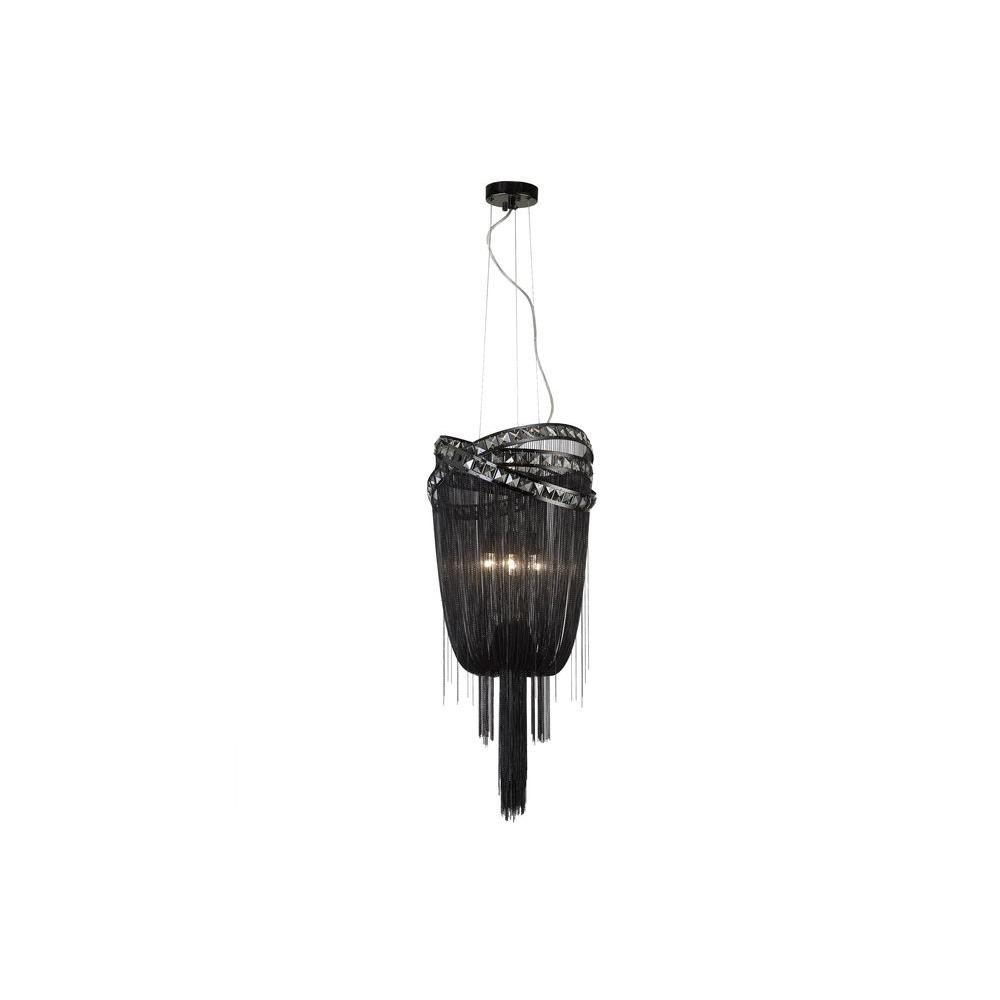 Avenue Lighting 3-Light Black Chrome Incandescent Ceiling Pendant