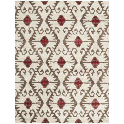 Wyndham Ivory/Brown 8 ft. x 10 ft. Area Rug