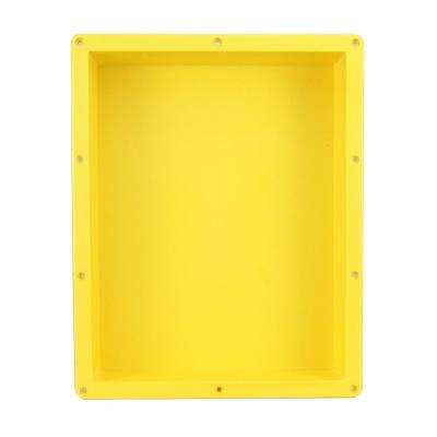 Flush Mount Installation 16 in. x 20 in. x 4 in. ABS Single Bathroom Recessed Shower Niche for Shampoo, Toiletry Storage
