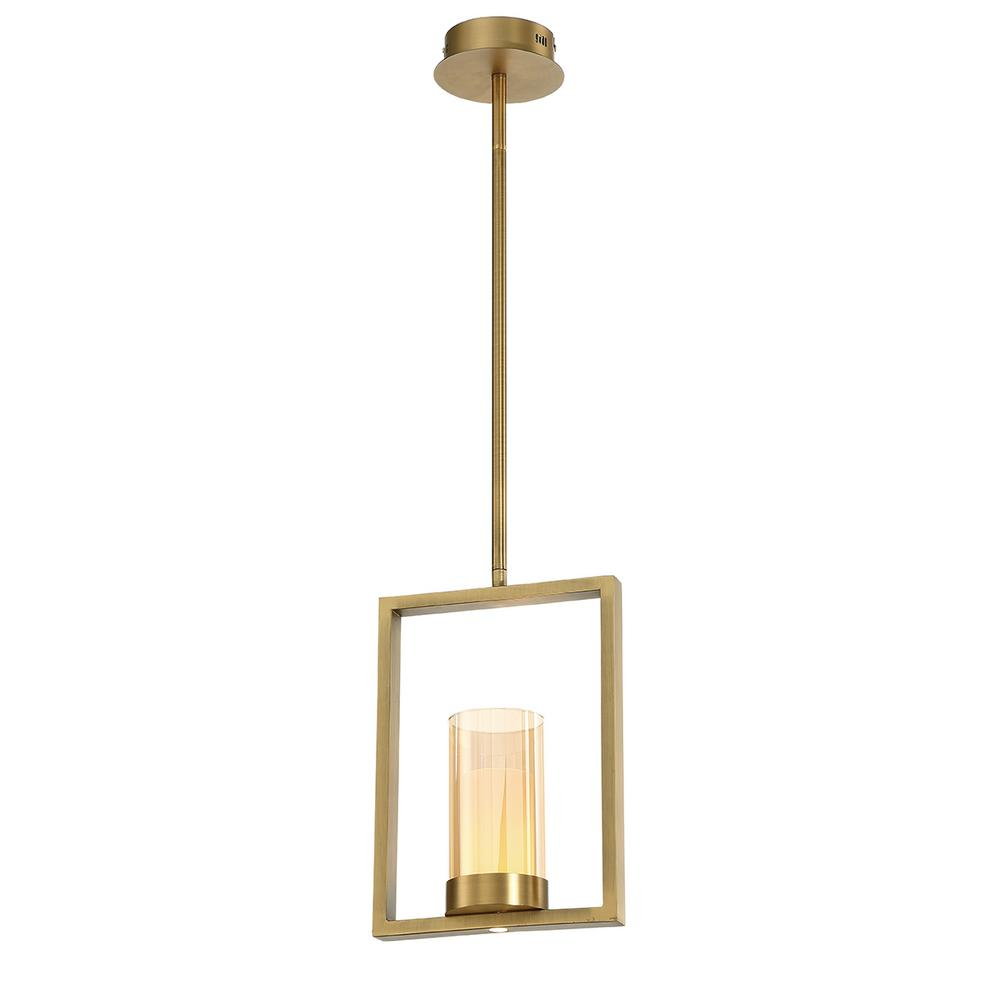 Home Decorators Collection 7-Watt Brass Integrated LED Pendant