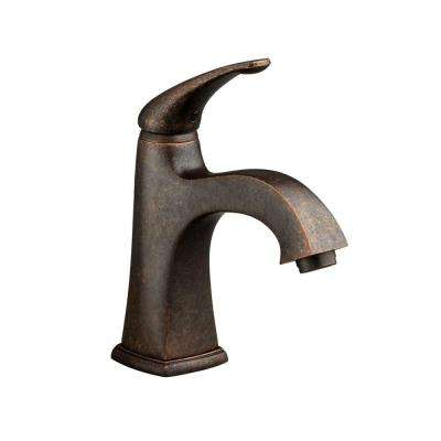 Copeland Single Hole Single Handle Monoblock Bathroom Faucet with Speed Connect Drain in Oil Rubbed Bronze