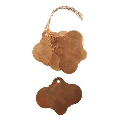 English Garden Copper Oval Plant Tags with Wire (10-Pack)