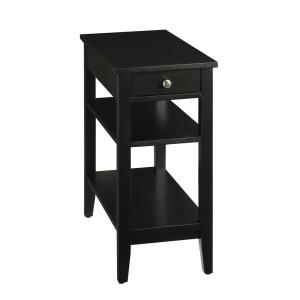 Convenience Concepts American Heritage 3 Tier Black End Table by Convenience Concepts