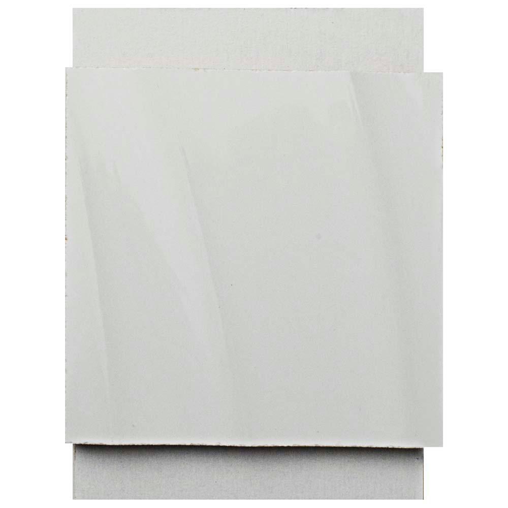 Silueta Blanco Brillo Ceramic Wall Tile - 3 in. x 4 in. Tile Sample