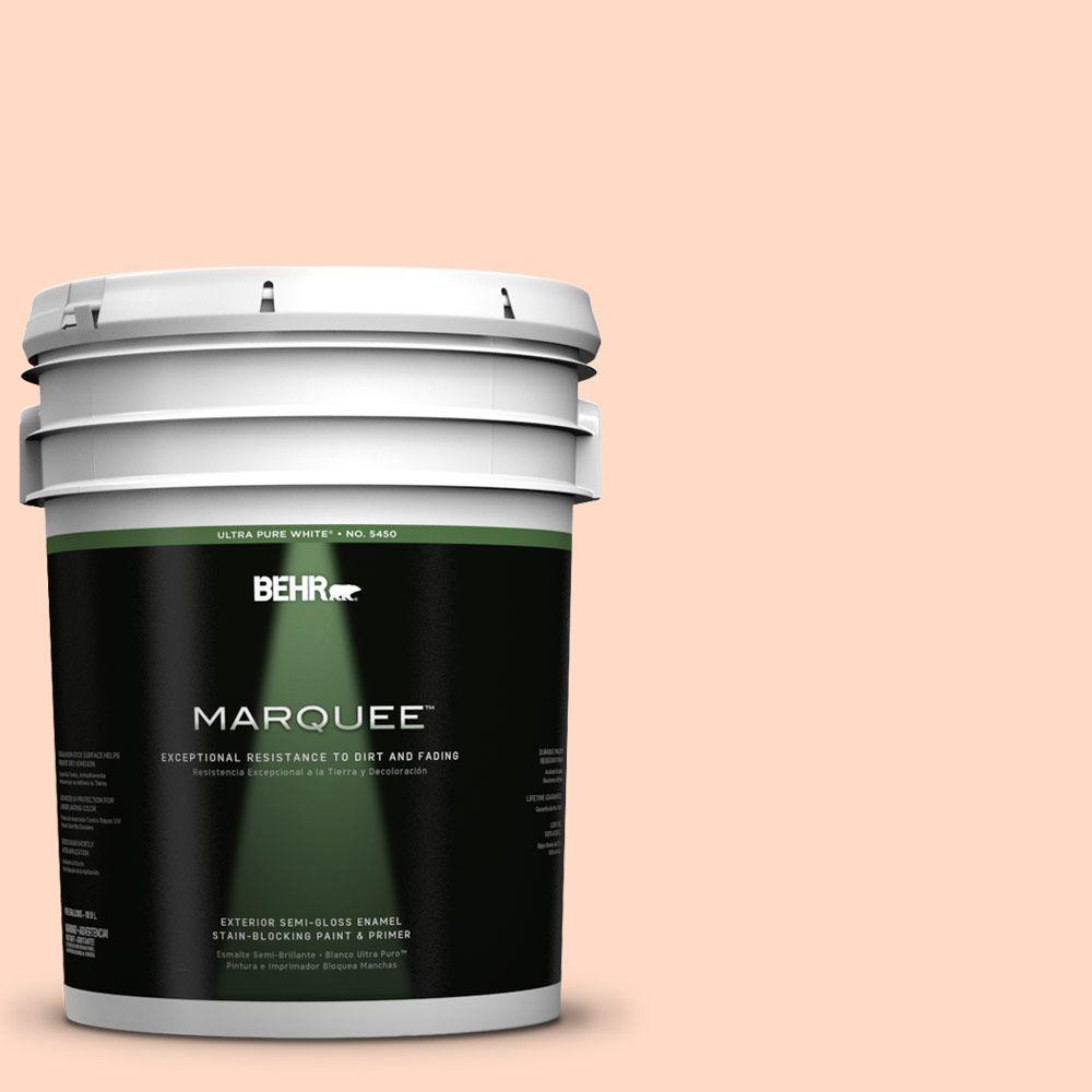 BEHR MARQUEE 5-gal. #250C-2 Sugared Peach Semi-Gloss Enamel Exterior Paint
